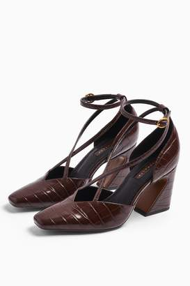Topshop GHOST Brown Cross Front Court Shoes