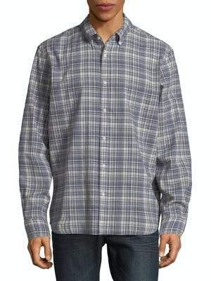 Black & Brown Black Brown Madras Plaid Button-Down Shirt