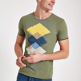 River Island Pepe Jeans green universe print T-shirt