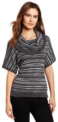 Calvin Klein Jeans Women's Short Sleeve Cowl Neck Sweater