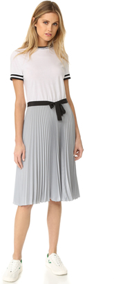 RED Valentino Colorblock Pleated Dress $750 thestylecure.com