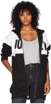 Juicy Couture Fleece Color Blocked Oversize Jacket Women's Coat