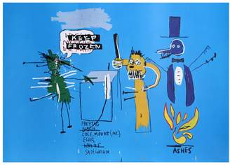 RoGallery The Dingoes That Park Their Brains with Their Gum by Jean-Michel Basquiat (Poster)