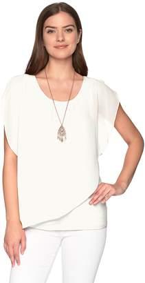 Amy Byer Women's Split Sleeve Popover Top