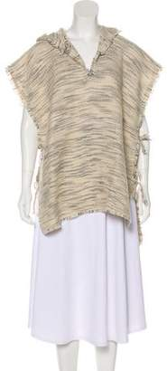 Isabel Marant Virgin Wool-Blend Hooded Poncho