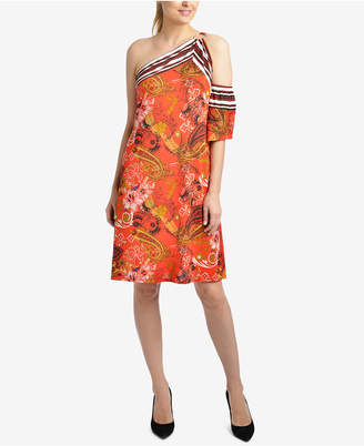 NY Collection One-Shoulder Dress