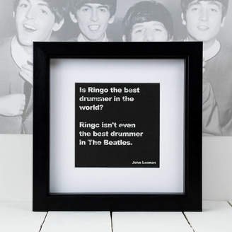 Coulson Macleod Framed John Lennon Music Quote Print