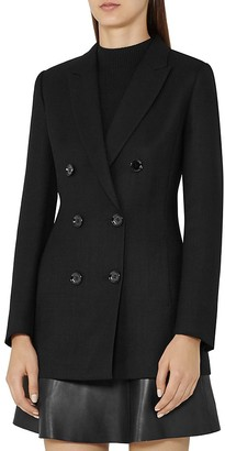 REISS Miki Double-Breasted Blazer $520 thestylecure.com