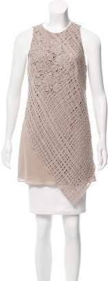Brunello Cucinelli Crochet-Accented Silk Tunic