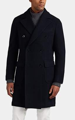 Ring Jacket Men's Wool Double-Breasted Peacoat - Navy