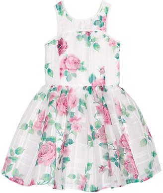 Nanette Lepore Floral-Print Jacquard Dress, Big Girls