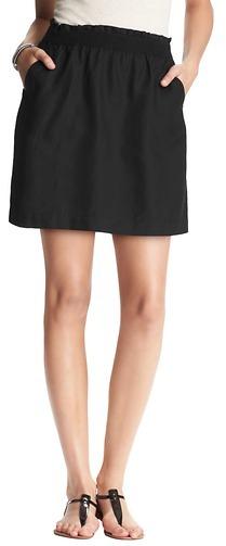 LOFT Shirred Waist Full Skirt
