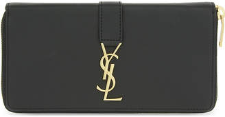 Saint Laurent Monogram leather zip-around wallet