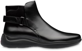 Prada back strap ankle boots