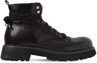 Rocco P. 30mm Leather Boots W/ Fur Lining