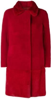 Blancha single breasted fur coat