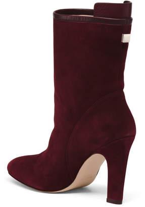 Made In Spain High Heel Suede Booties