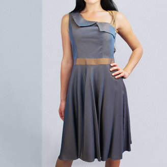 LAGOM Lydia 50s Style Dress Blue Bronze