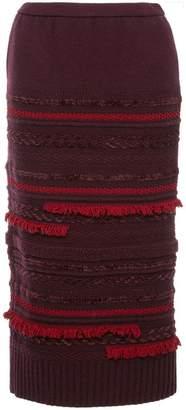 Coohem tweed knit skirt