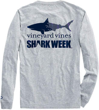 Vineyard Vines Mens Shark Week Long-Sleeve Shark T-Shirt