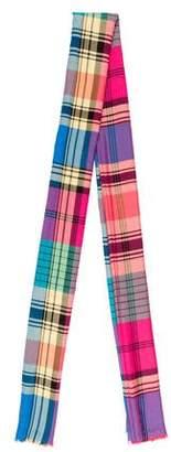 Etro Plaid Wool Shawl