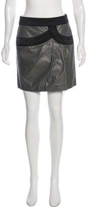 Robert Rodriguez Ruched-Accented Mini Skirt w/ Tags
