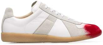 Maison Margiela white and red Replica painted toes sneakers