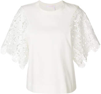 See by Chloe lace-sleeved top