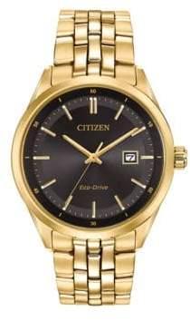 Citizen Eco-Drive Yellow Goldtone Stainless Steel Bracelet Watch, BM7252-51E