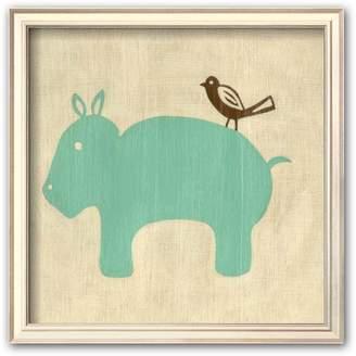 """Art.com Best Friends - Hippo"""" Framed Art Print"""