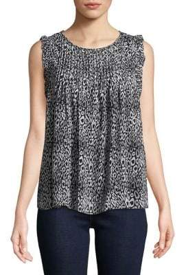 MICHAEL Michael Kors Ruffled Cap-Sleeve Top