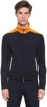 Valentino Techno Jersey Jacket W/ Contrast Collar