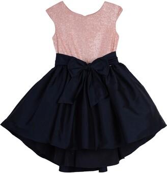 Pippa & Julie Sequin & Taffeta Dress