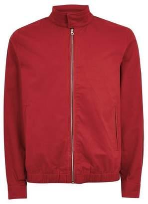 Topman Mens Pink Red Side Stripe Harrington Jacket