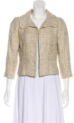 Oscar de la Renta Sequin Tweed Jacket