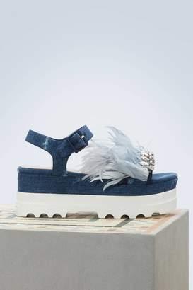 Miu Miu Feathers sandals