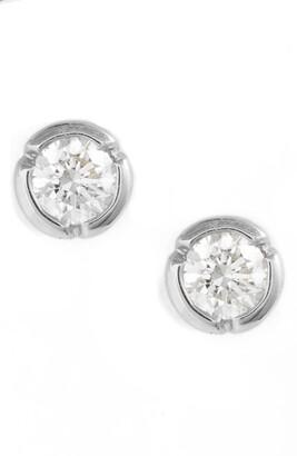 Bony Levy Medium Bezel Diamond Stud Earrings