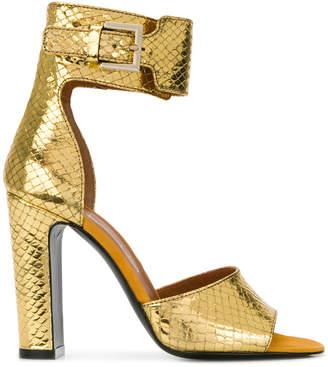 Via Roma 15 ankle strap snakeskin effect sandals