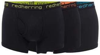 Red Herring Pack Of Three Black Keyhole Trunks