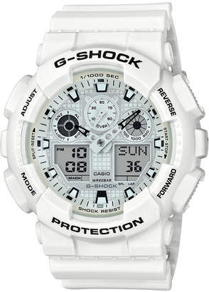 G-Shock Men's Analog-Digital White Resin Strap Watch 51.2mm