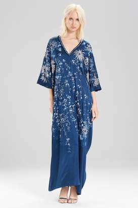 Josie Natori Couture Cascading Floral Caftan