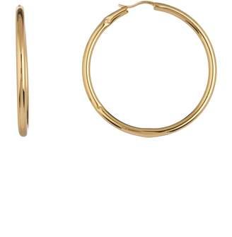 Argentovivo Sterling Silver Tube 47mm Hoop Earrings