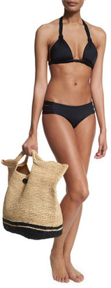 Vitamin A Large Straw Beach Bag $195 thestylecure.com