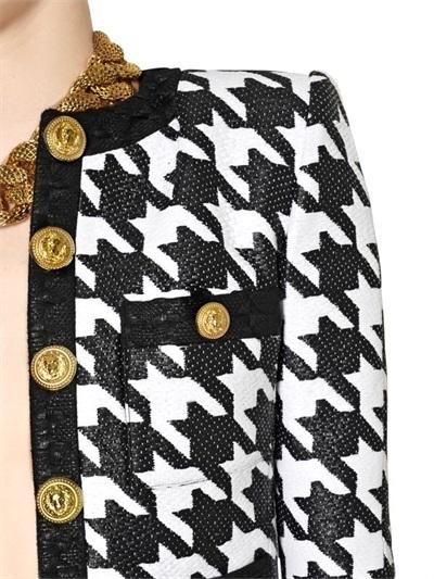 Balmain Woven Houndstooth Jacket
