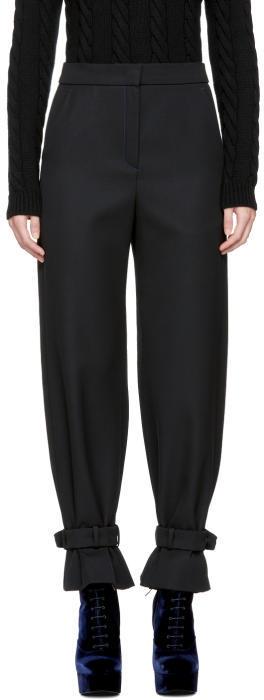 Fendi Black Cinched Cuffs Trousers