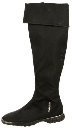Chanel Knee-High Square-Toe Boots