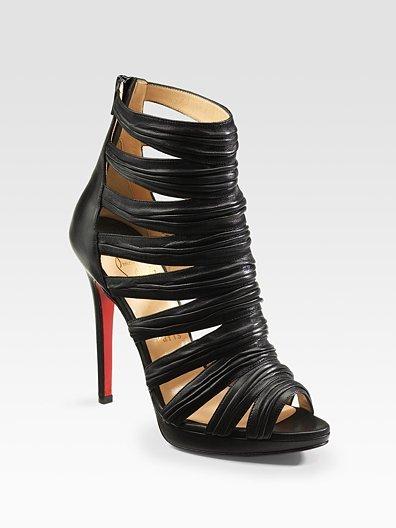 Christian Louboutin Tinazata Peep-Toe Platform Sandals