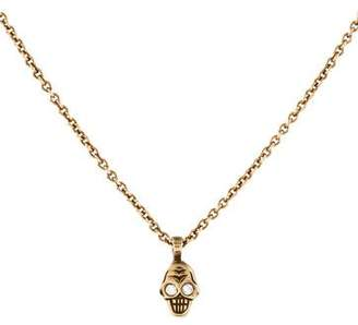 Me & Ro Me&Ro 10K Diamond Tiny Skull Pendant Necklace