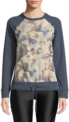 Koral Activewear Olvera Metallic Camo Long-Sleeve Sweatshirt