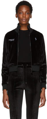 Marcelo Burlon County of Milan Black Logo Tape Track Jacket